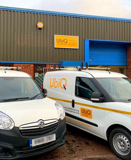 UbiQ service vehicles on standby